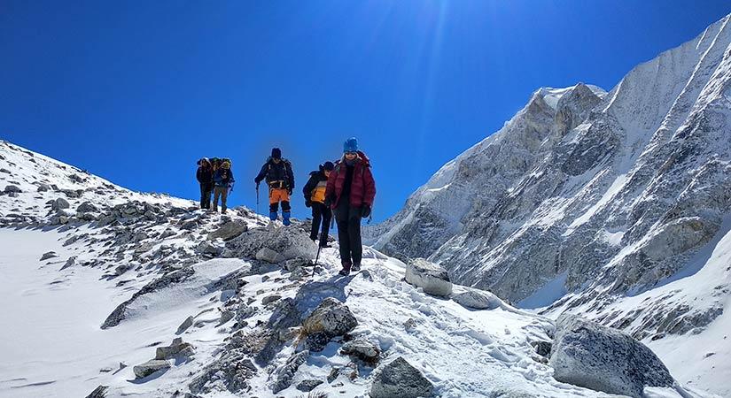 Larkey Pass trekking trail