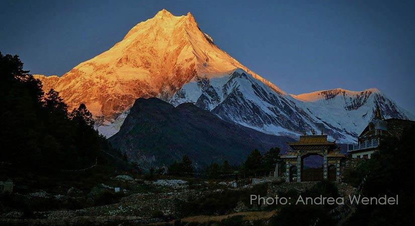 Mt. Manaslu sun set