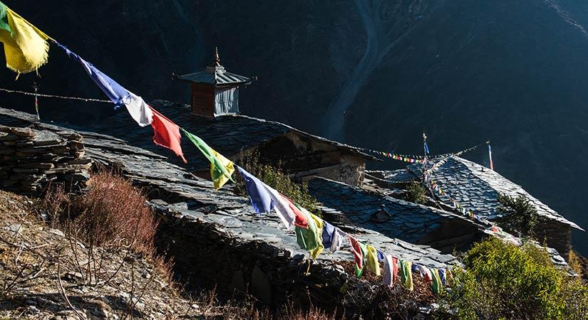 Highest part in Tsum valley trek Mu Gumba 33850M