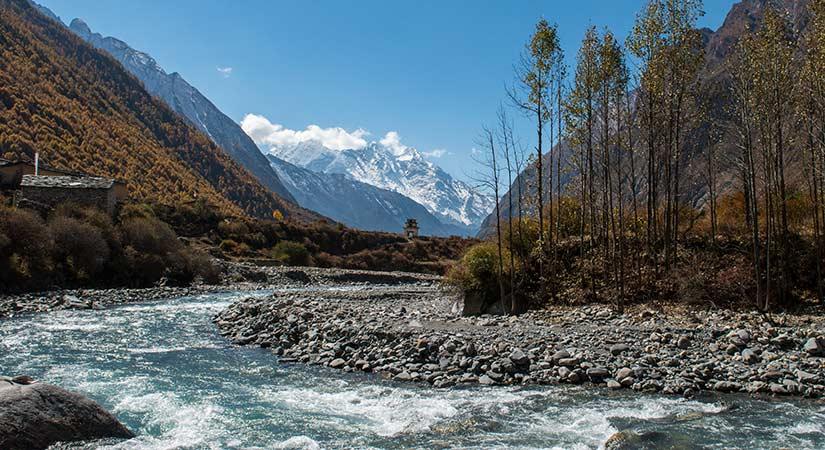 Beautiful Siyar Khola in Tsum valley