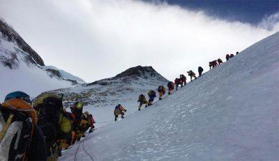 climbing Mt. Everest