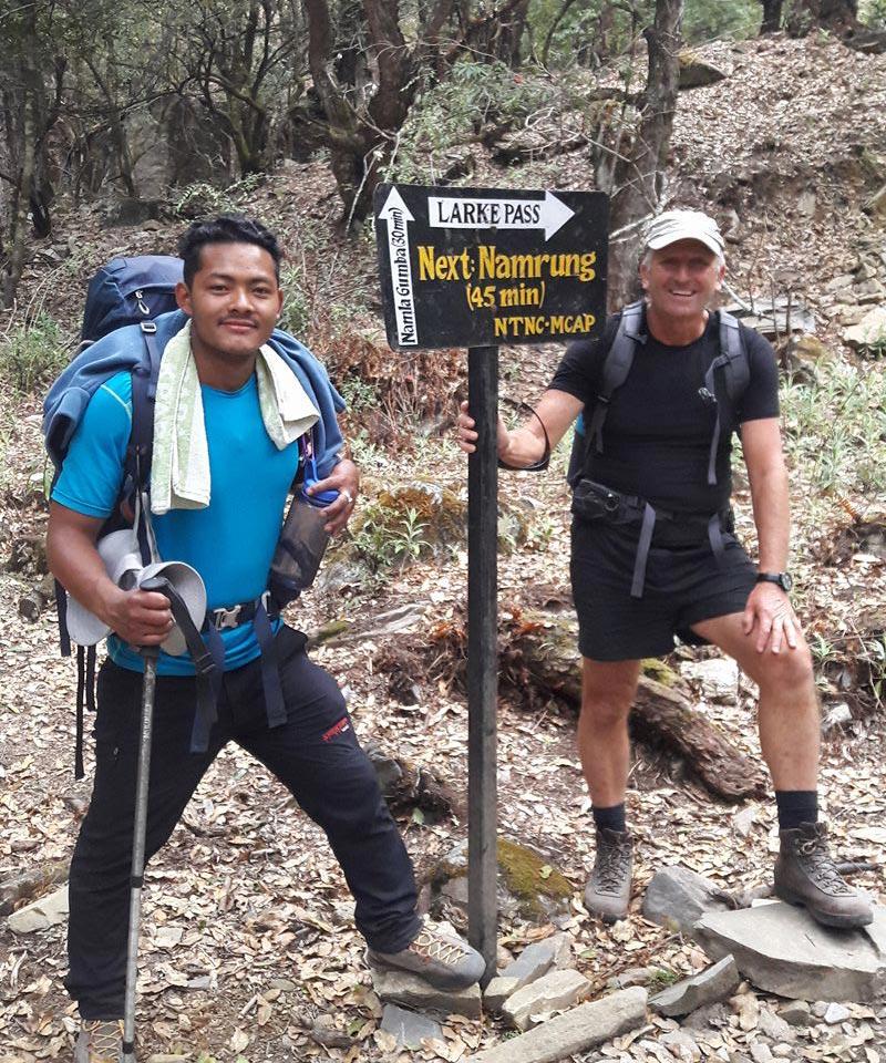 Manaslu base camp treking