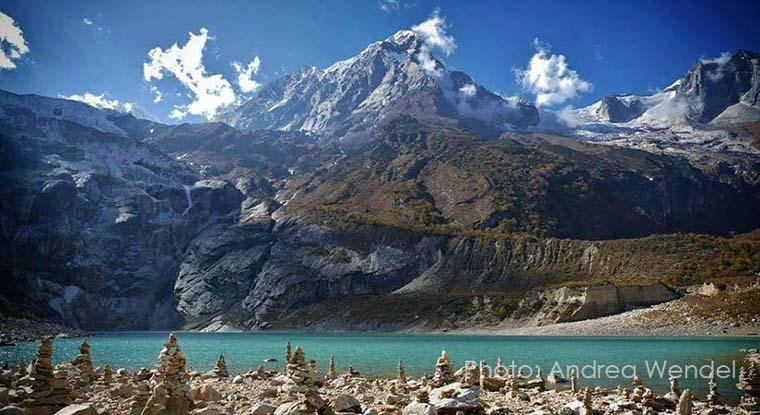Birendra Lake Made from Mt. Manaslu Glacier