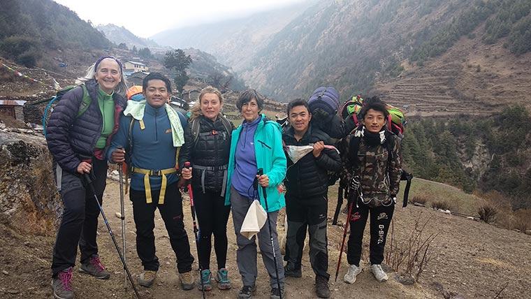 Spanish group in Manaslu trekking
