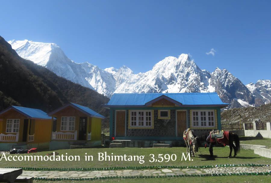 Accomodation in Manaslu trekking region